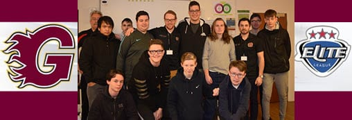 Guildford Flames Ice Hockey Captains visit Brooklands College Sports Students