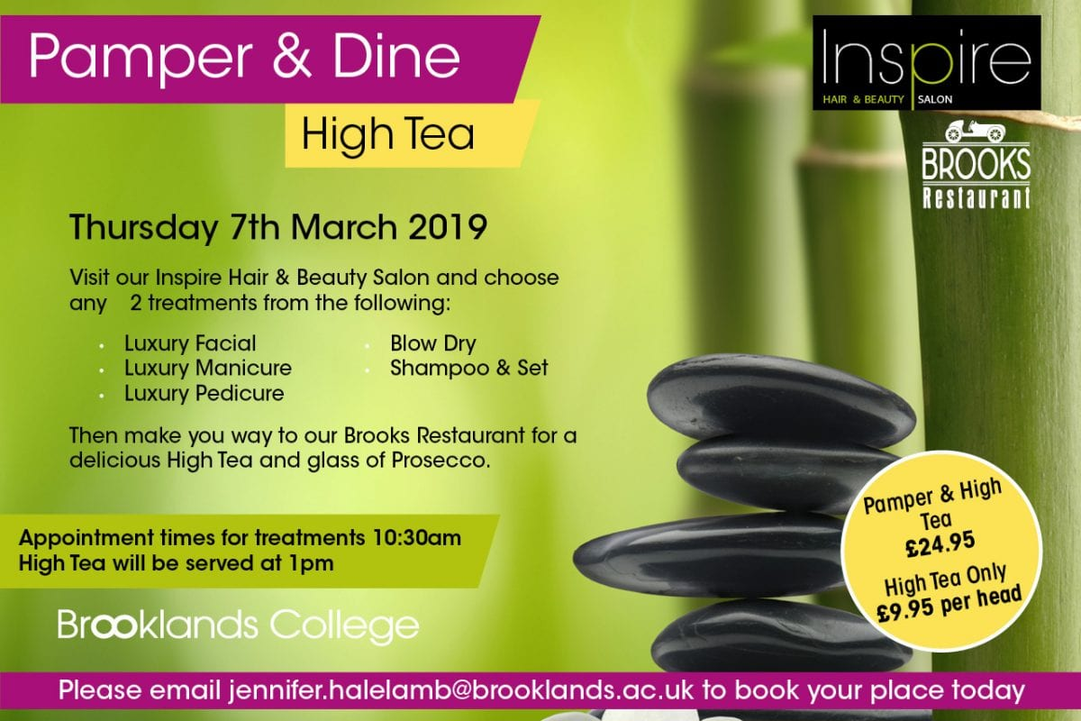 Treat yourself to a pamper and High Tea…