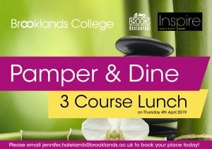 Pamper and Dine with a three-course lunch