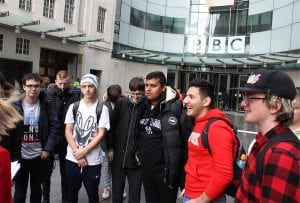 Visit to the BBC