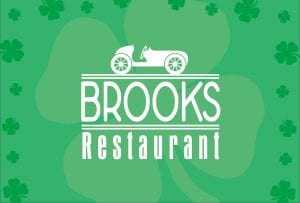 St. Patrick's Day meal in Brooks Restaurant (Weybridge)