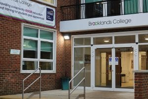 Reception at Brooklands College, Weybridge Campus