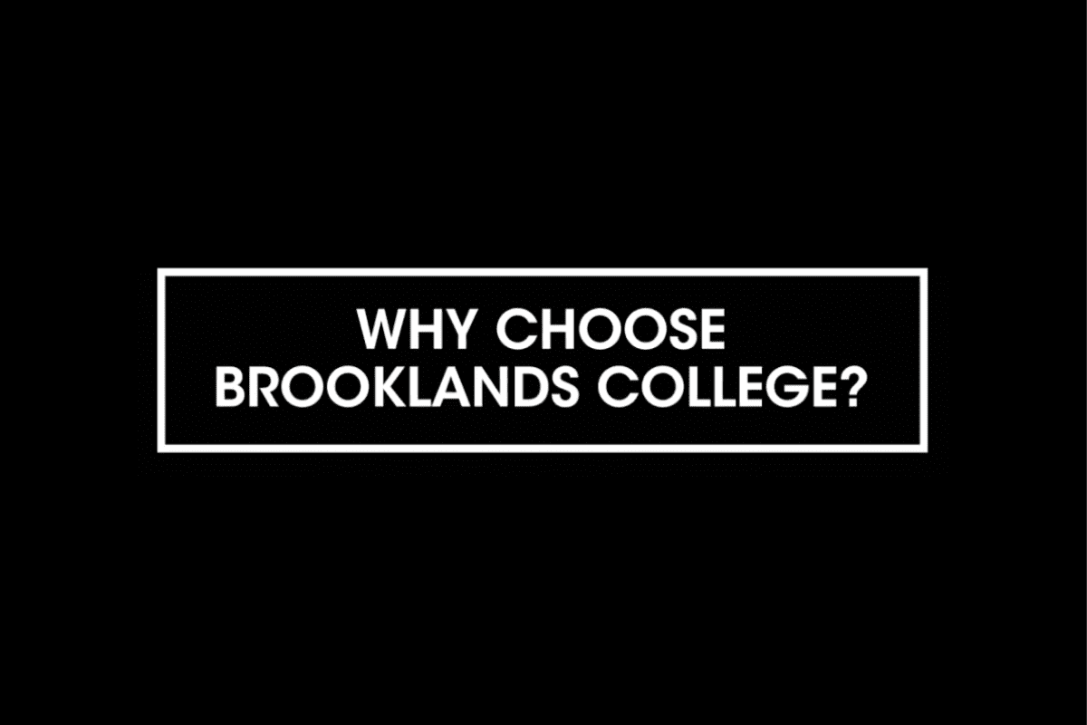 From fantastic facilities to friendly, supportive lecturers, check out just a few reasons to choose Brooklands College in our latest video!