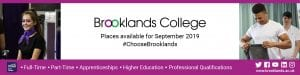Email Footer for #ChooseBrooklands - places available for September 2019